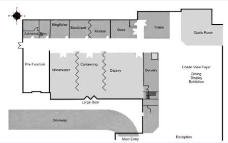 Layout Plan - Conference Rooms - Opal Cove Resort